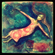Floating Girl Art - Beyond the Bounds by Denise Daffara