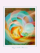 Abstract Digital Pastels Prints - Beyond the Illusion Print by Gayle Odsather
