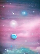Outer Space Painting Originals - Beyond the Milky Way by Ricky Haug
