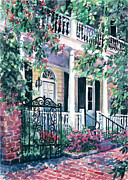 Charleston Houses Paintings - Beyond The Wrought Iron by Alice Grimsley