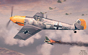 Luftwaffe Digital Art - Bf 109E Geschwaderkommodore JG 26 Adolf Galland by Vladimir Kamsky