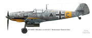 Lg Posters - Bf109 E-7/B 5.Schlacht /LG 2. Barbarossa Summer1941 Poster by Vladimir Kamsky