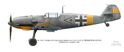 Aeroplanes Framed Prints - Bf109E-7 W.Nr. 6095 Gruppenkommandeur I./LG2 Hptm. Herbert Ihlefeld. Barbarossa. 1941 Framed Print by Vladimir Kamsky