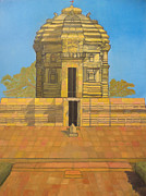 Nandi Prints - Bhaskareshwar- Shiva Temple Print by Pratyasha Nithin