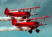 Synchronized Framed Prints - Bi-planes Framed Print by Jerry L Barrett