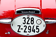 Featured Art - Bianchina Emblem - License Plate by Jill Reger
