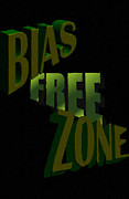 Racism Paintings - Bias Free Zone by Social Justice Ink