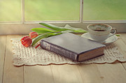 Religious Still Life Prints - Bible Study Print by Kay Pickens