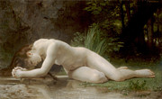 Naked Man Posters - Biblis Poster by William Bouguereau