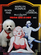 Hot Dogs Originals - Bichon Frise Art- Some Like It Hot Movie Poster by Sandra Sij
