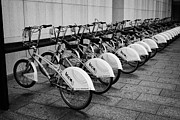 Catalunya Prints - Bicing Bicycle Sharing System In Barcelona Catalonia Spain Print by Joe Fox