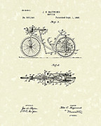 Bicycle Drawings Posters - Bicycle 1906 Patent Art Poster by Prior Art Design
