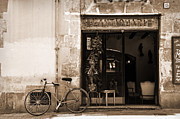Bicycle And Reflections At L'antiquari Bar  Print by RicardMN Photography