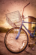 Bicycle At The Beach Print by Debra and Dave Vanderlaan