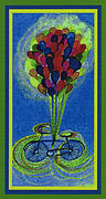 Gears Mixed Media Posters - Bicycle Balloons by jrr Poster by First Star Art