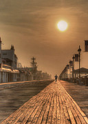 Jersey Shore Digital Art Posters - Bicycle Boardwalk Poster by Lori Deiter