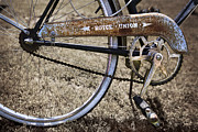 Pedals Photo Prints - Bicycle Gears Print by Debra and Dave Vanderlaan