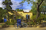 Warm Weather Framed Prints - Bicycle in Santa Fe Framed Print by Madeline Ellis