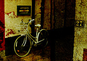 Shopping Photo Framed Prints - Bicycle Framed Print by Mal Bray