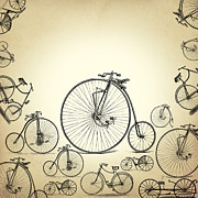 Old Bicycle Posters - Bicycle Poster by Mark Ashkenazi