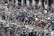 Bicycle Photos - Bicycle parking lot by Oscar Gutierrez
