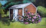 Melinda Saminski - Bicycle Resting on Shed