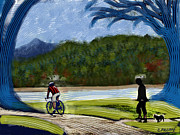Corte Madera Posters - Bicycle Stripes Poster by Colleen Proppe