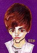 Justin Bieber Painting Prints - #BieberFever - #Beliebers Have Got It Bad Print by Ebenlo PainterOfSong