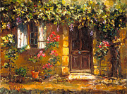 French Door Paintings - Bienvenue a Provence by Patsy Walton