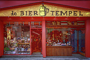 Fermentation Photo Posters - Bier Tempel Poster by Joan Carroll