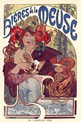 Belle Epoque Framed Prints - Bieres de la Meuse Framed Print by Sanely Great