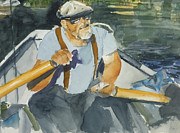 Flyfishing Painting Originals - Big Al Martin by Hil Hawken