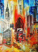Manhatten Painting Framed Prints - Big Apple Framed Print by Lege Artis