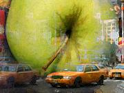 Cities Mixed Media - Big Apple by Lutz Baar