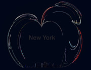 Broadway In New York Prints - Big Apple Print by Nafets Nuarb