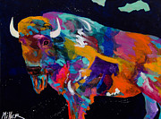 Colorado Artist Tracy Miller Posters - Big Ass Buffalo Poster by Tracy Miller