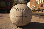 Baseball Art Print Photos - Big Ball at Chase Field by Malania Hammer