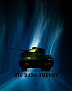 Band Digital Art Acrylic Prints - Big Bang Theory Acrylic Print by Bob Orsillo