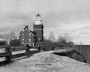 Big Bay Point Lighthouse Titled Print by Darren Kopecky