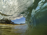 Brad Scott Prints - Big Beach Barrel Print by Brad Scott