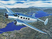 Plane Painting Prints - Big Bear Twin Beach Print by Stu Shepherd