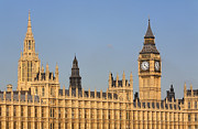 Westminster Palace Photos - Big Ben and the Houses of Parliament London by Robert Preston