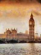 Big Ben At Dusk Print by Pixel Chimp