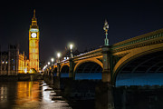 Vintage Beauty Prints - Big Ben at Night Print by Daniel Kocian