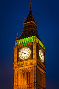 Night Lamp Prints - Big Ben at Night Print by Inge Johnsson