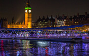 Big Ben Originals - Big Ben at night-Landscape by Roxana Scurtu