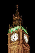 Clock Tower Photos - Big Ben Close Up by Jasna Buncic