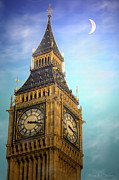 Family Time Digital Art Framed Prints - Big Ben Framed Print by Joyce Dickens