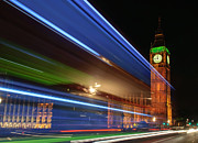 Big Ben Originals - Big Ben light trails by Ivelin Donchev