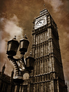 Houses Of Parliament Framed Prints - Big Ben Framed Print by Mark Rogan